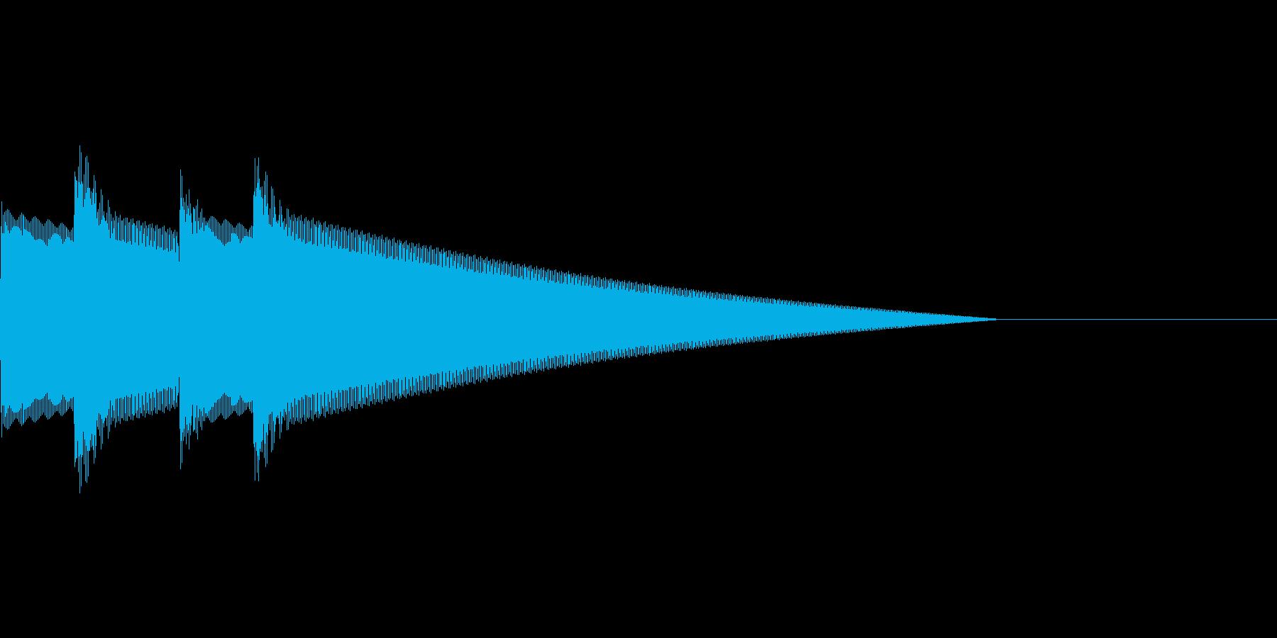 クイズ正解(ピンポーン×2)の再生済みの波形