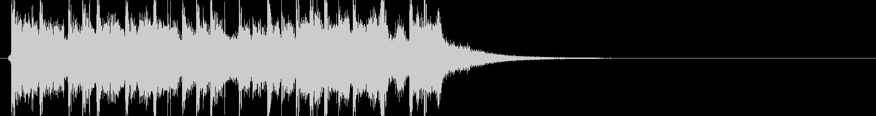 使いやすいマーチングテイストの曲の未再生の波形