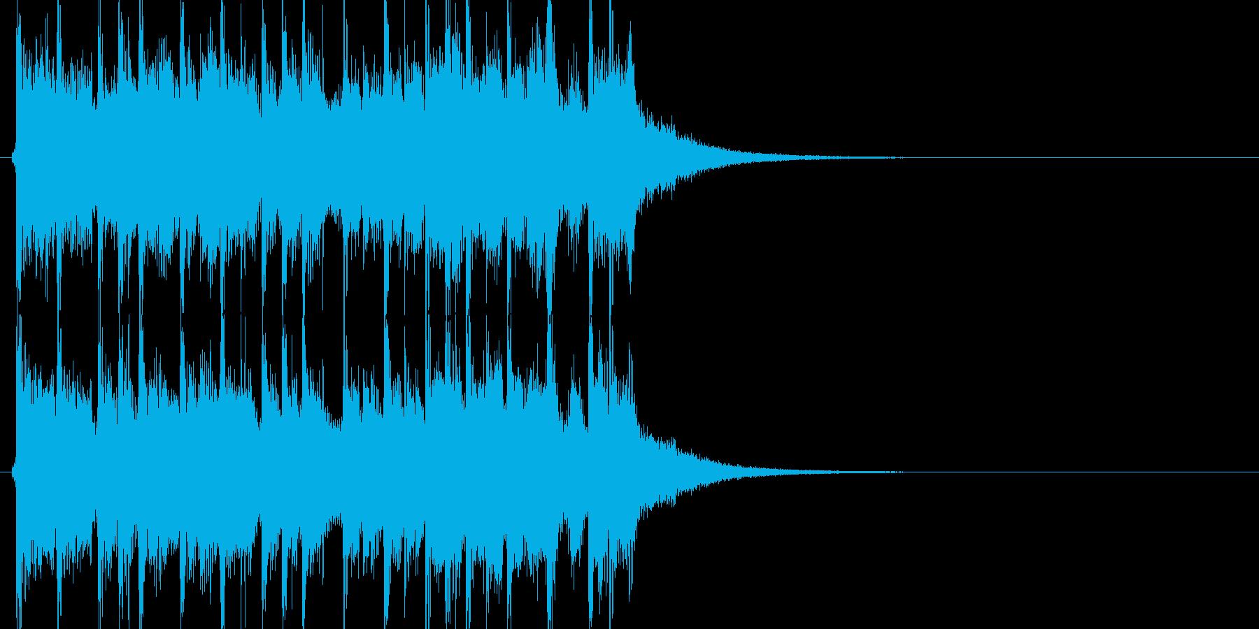 使いやすいマーチングテイストの曲の再生済みの波形