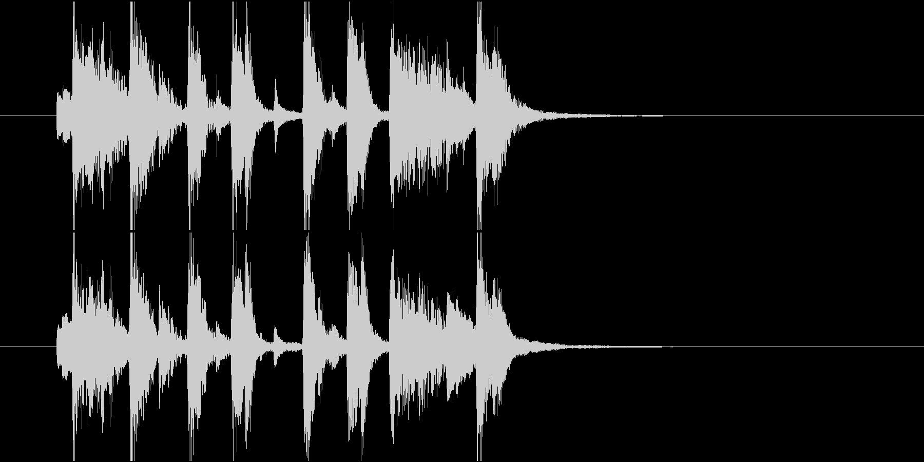 ジングル(ポップ3)の未再生の波形