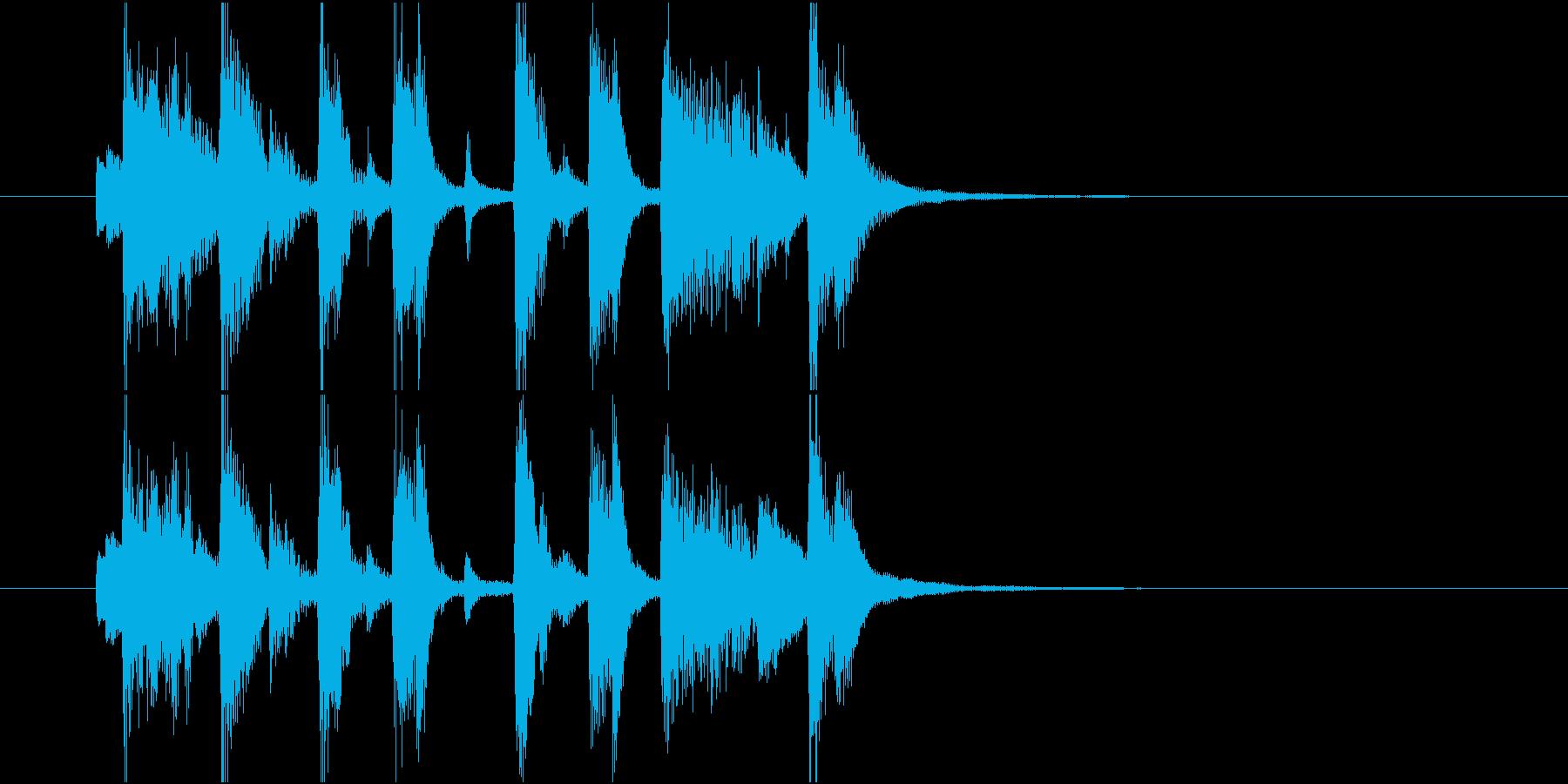 ジングル(ポップ3)の再生済みの波形