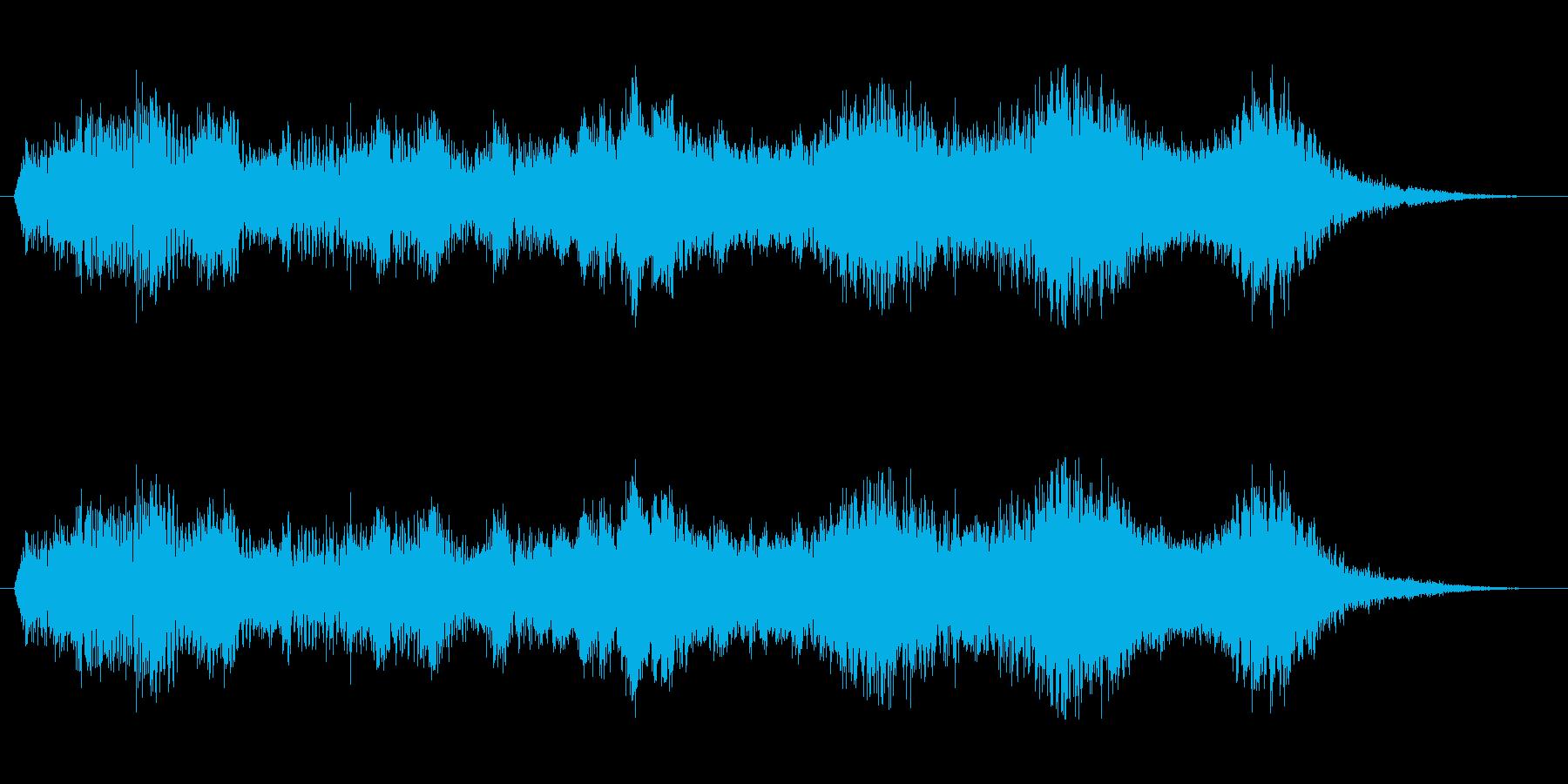 ワープ音2の再生済みの波形