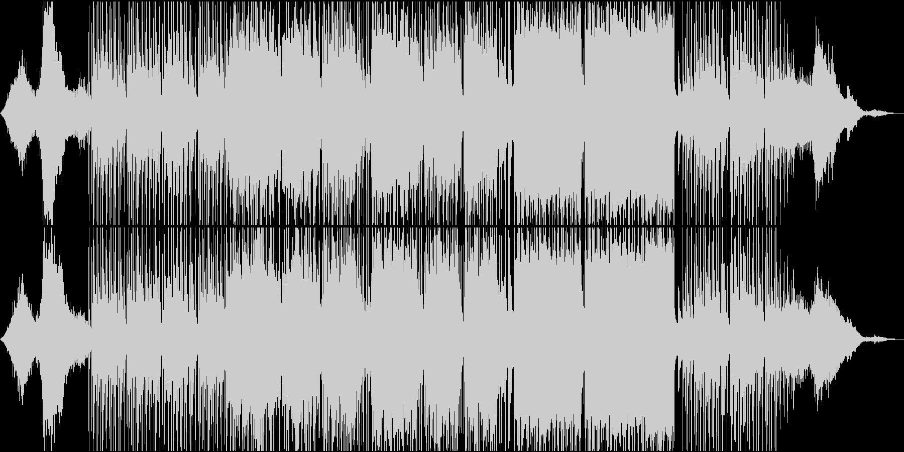 南国風の男女ボーカルがラララで歌う曲の未再生の波形