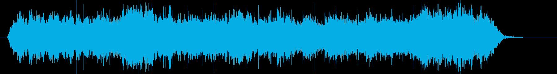 ゆったりとした和風テイストのシンセの曲の再生済みの波形