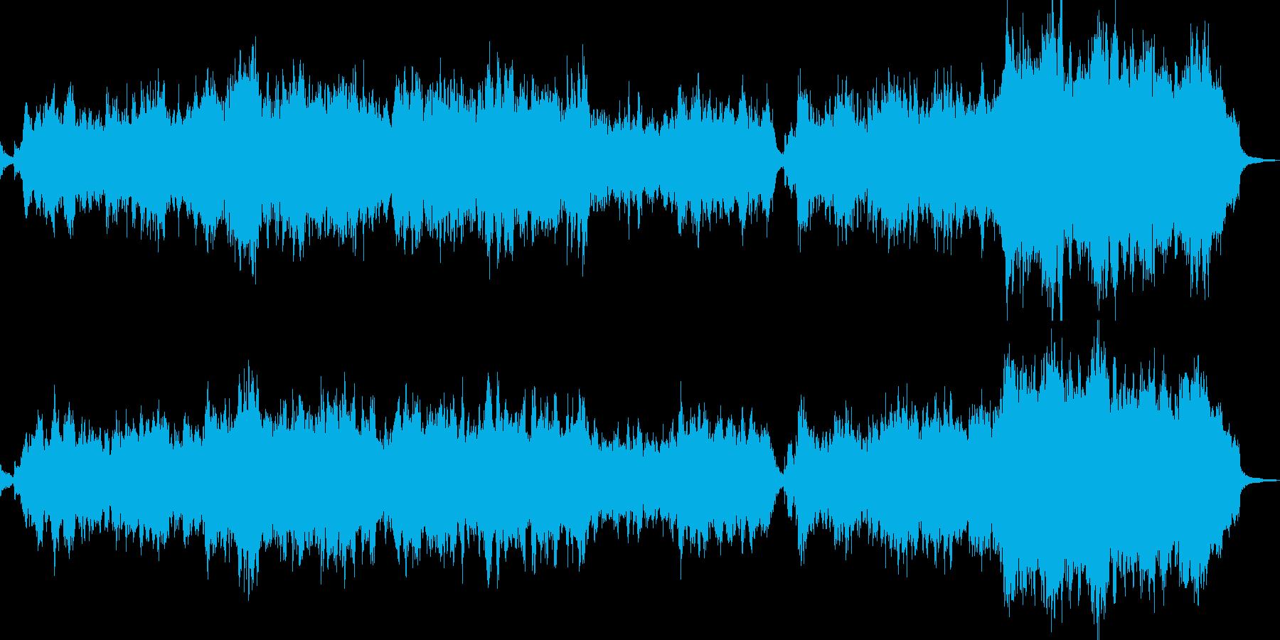 壮大シンセのサウンドスケープの再生済みの波形