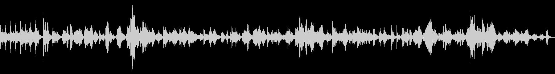 ピアノとボーカルのシンプルなバラードの未再生の波形