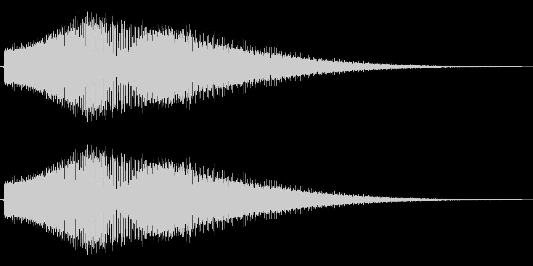 FM音源風金属音の未再生の波形