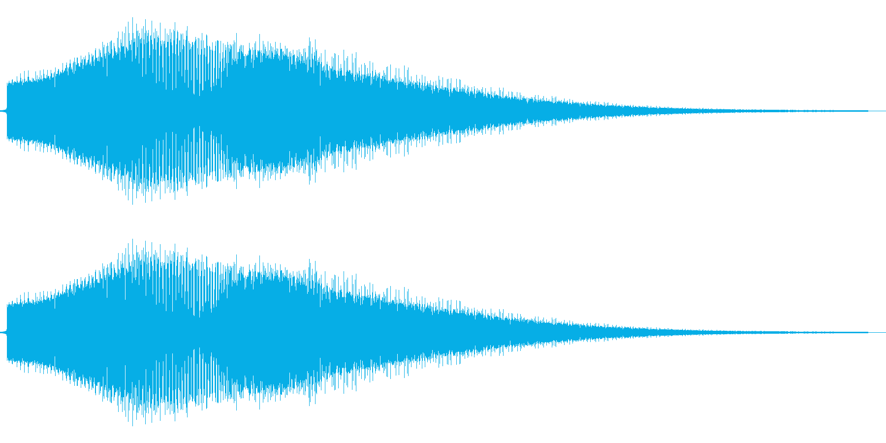 FM音源風金属音の再生済みの波形