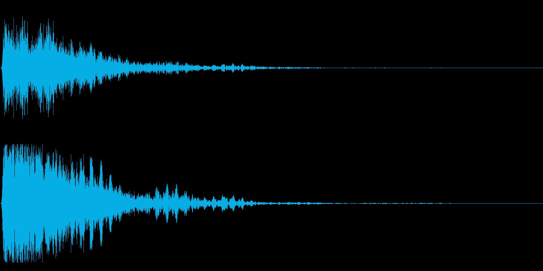 ジャーン(驚き、悲しげ)の再生済みの波形