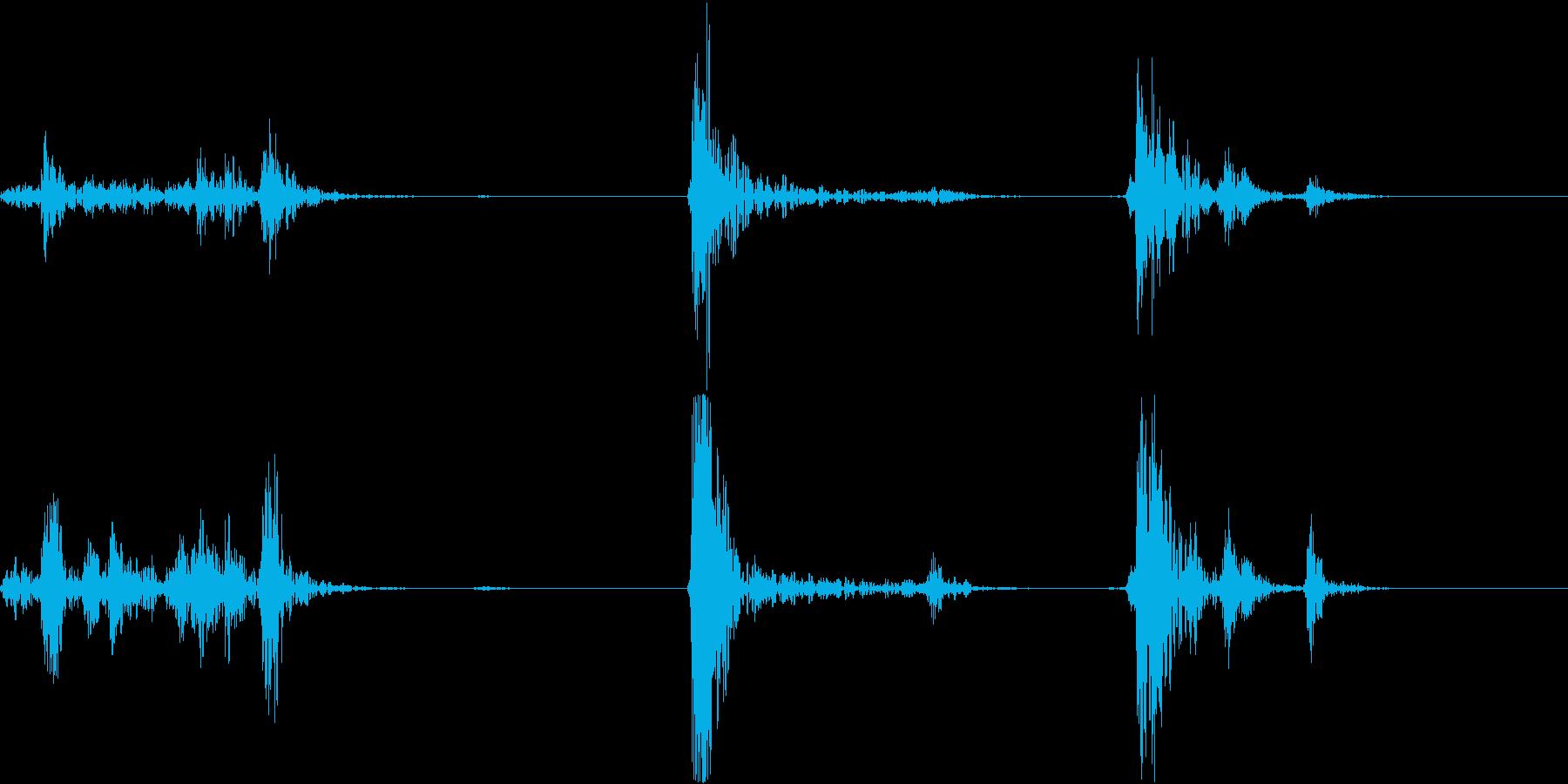 ガチャドア開閉音の再生済みの波形