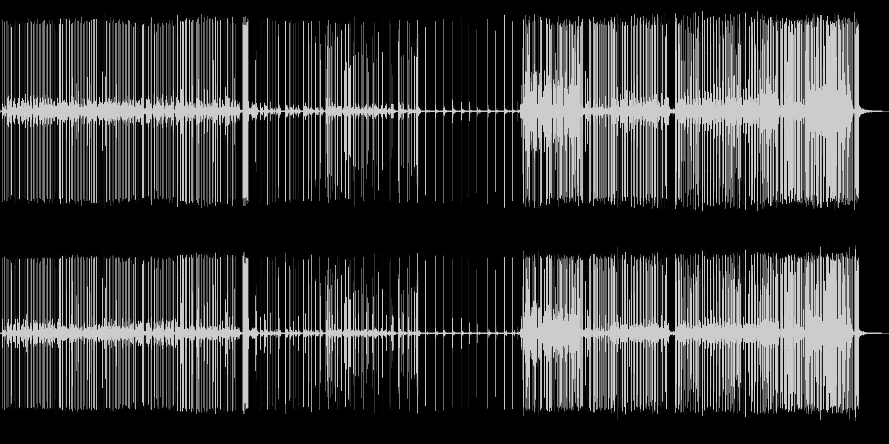 【環境音】小規模な花火大会の音の未再生の波形