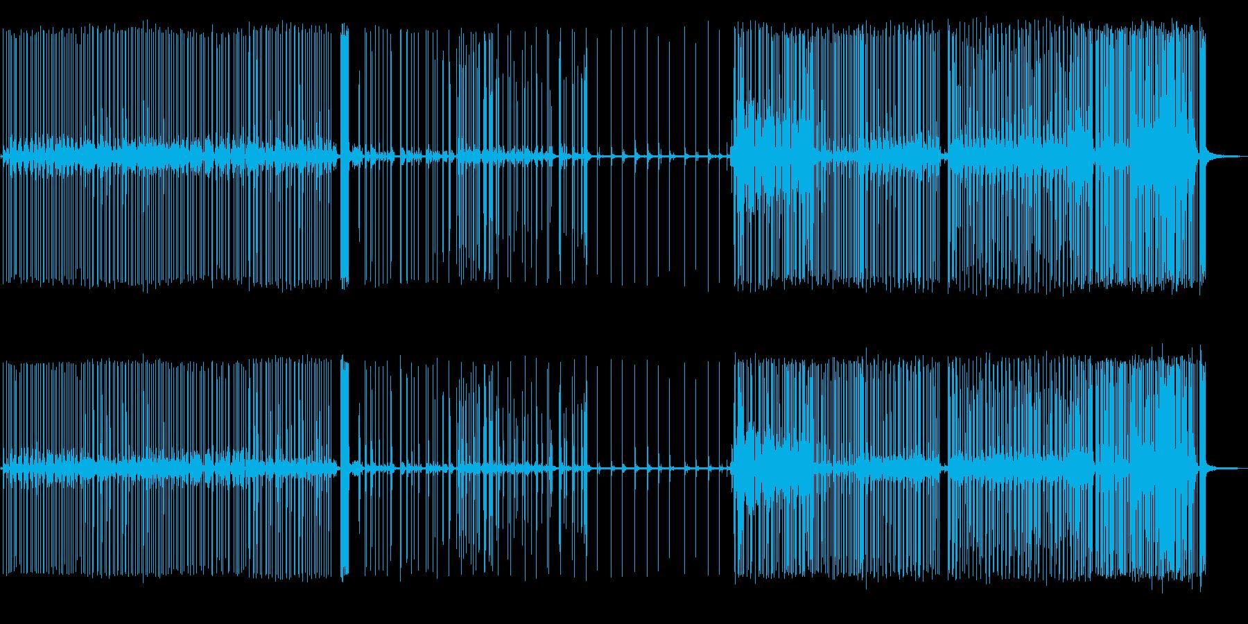 【環境音】小規模な花火大会の音の再生済みの波形