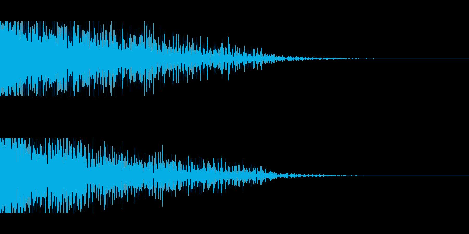 ショック、がびーん、がーん、転落の再生済みの波形