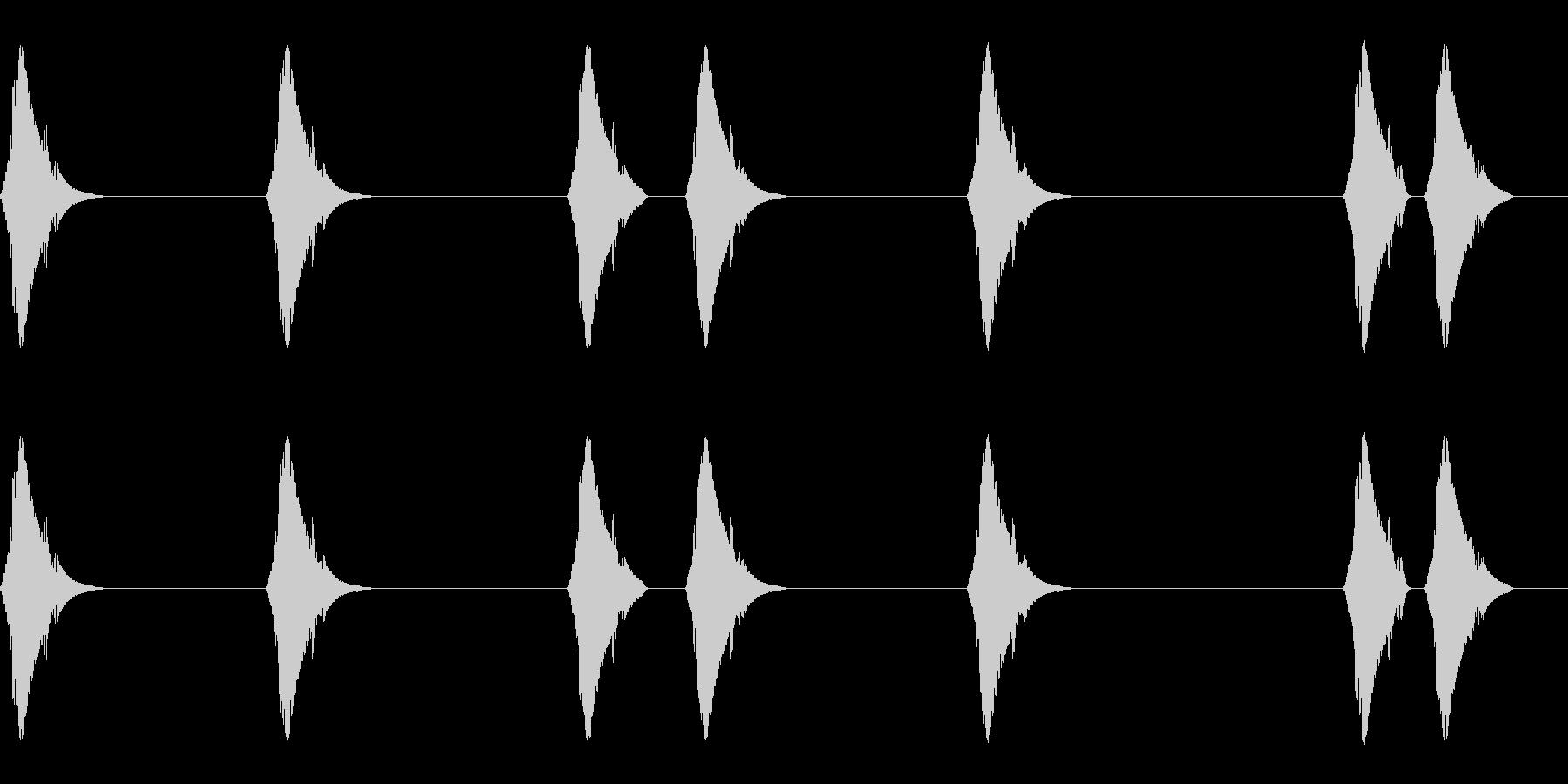 ピコピコ…(小動物/しっぽ/かわいい)の未再生の波形