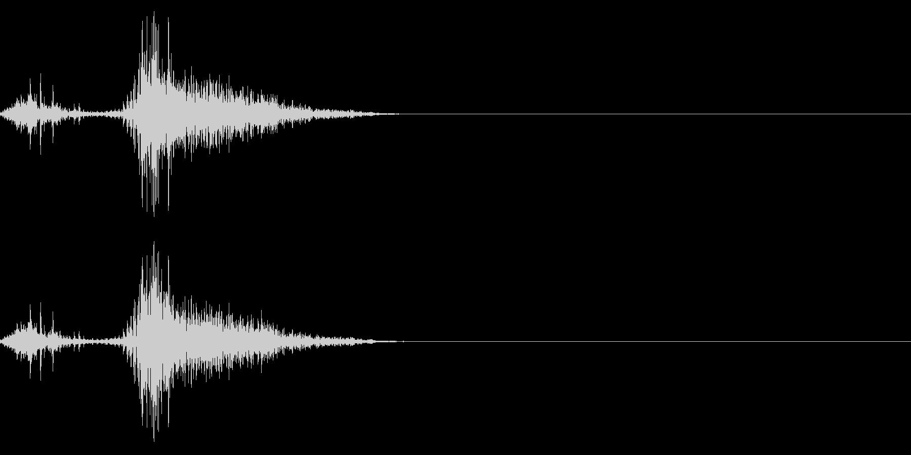 くしゃみの効果音(日本人/女性)02の未再生の波形