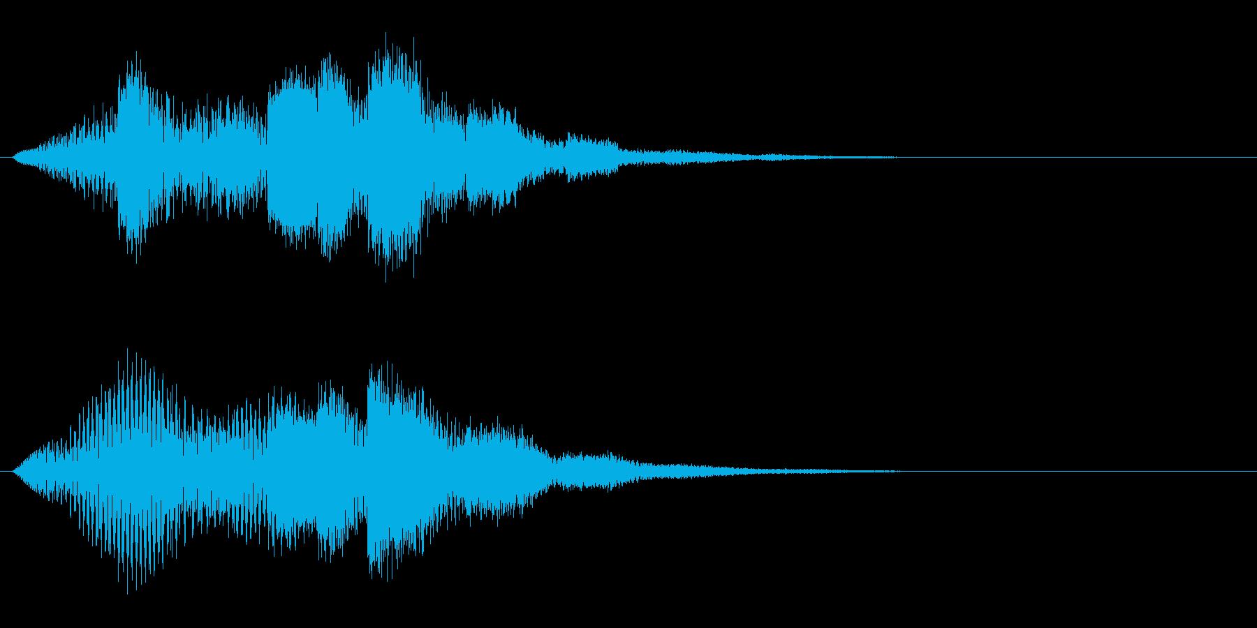 スンチャンチャンチャララ(セーブの音)の再生済みの波形