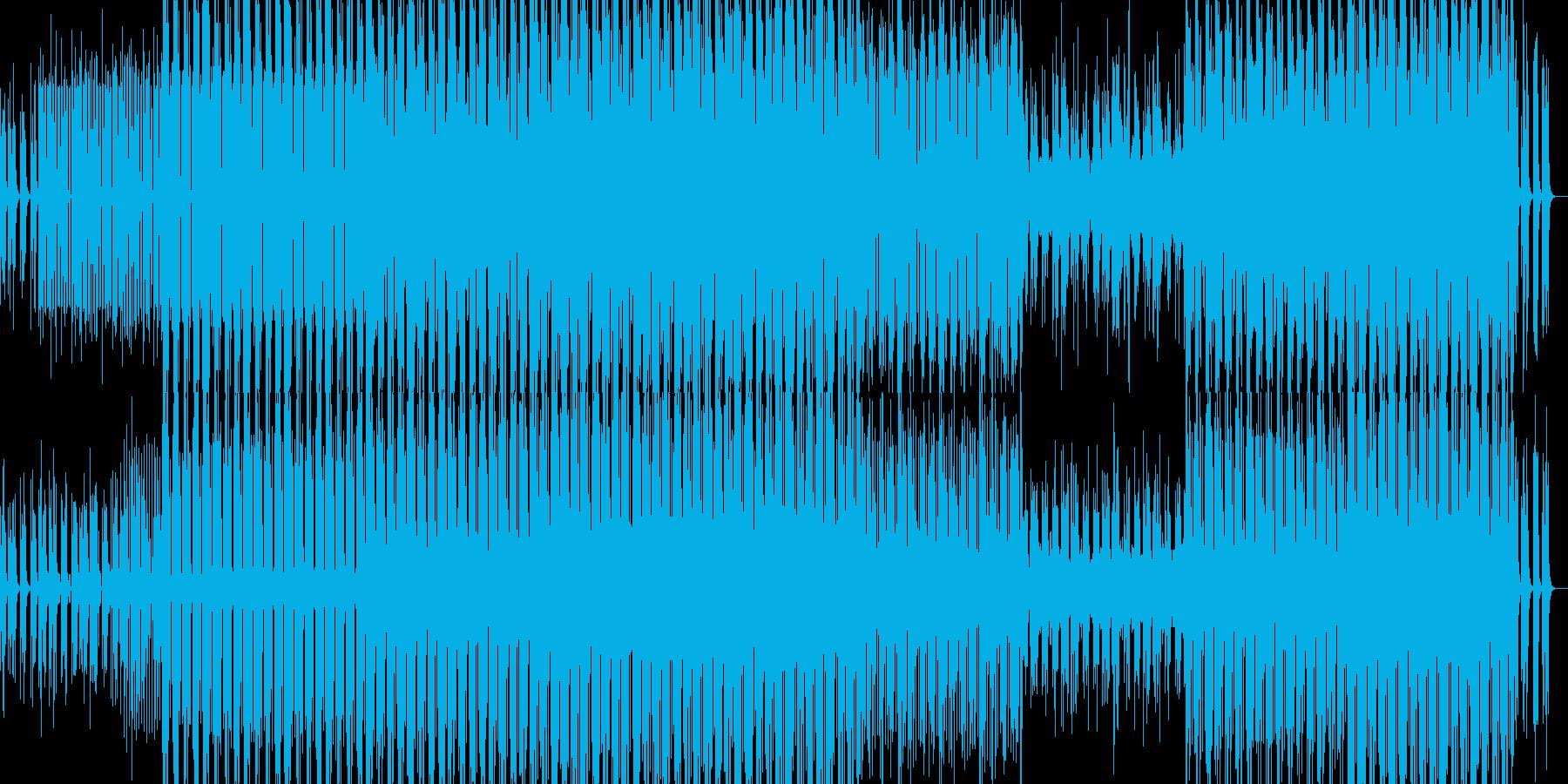 おしゃれな雰囲気のポップなテクノの再生済みの波形