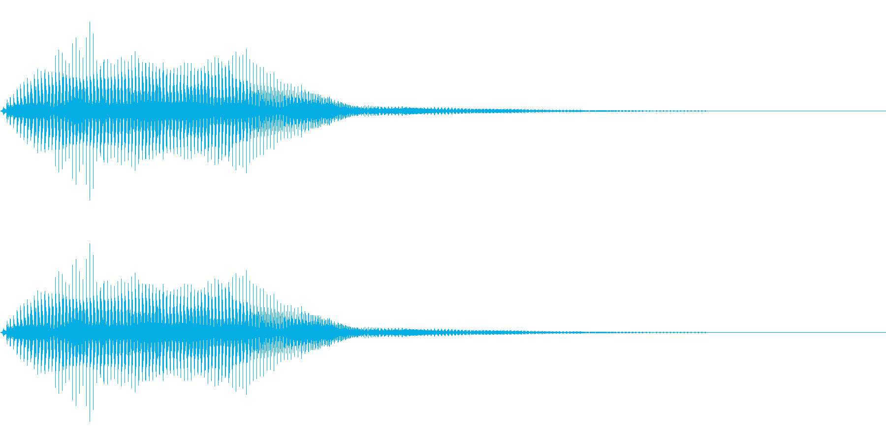 ビームソード風の効果音(SF、ロボット)の再生済みの波形