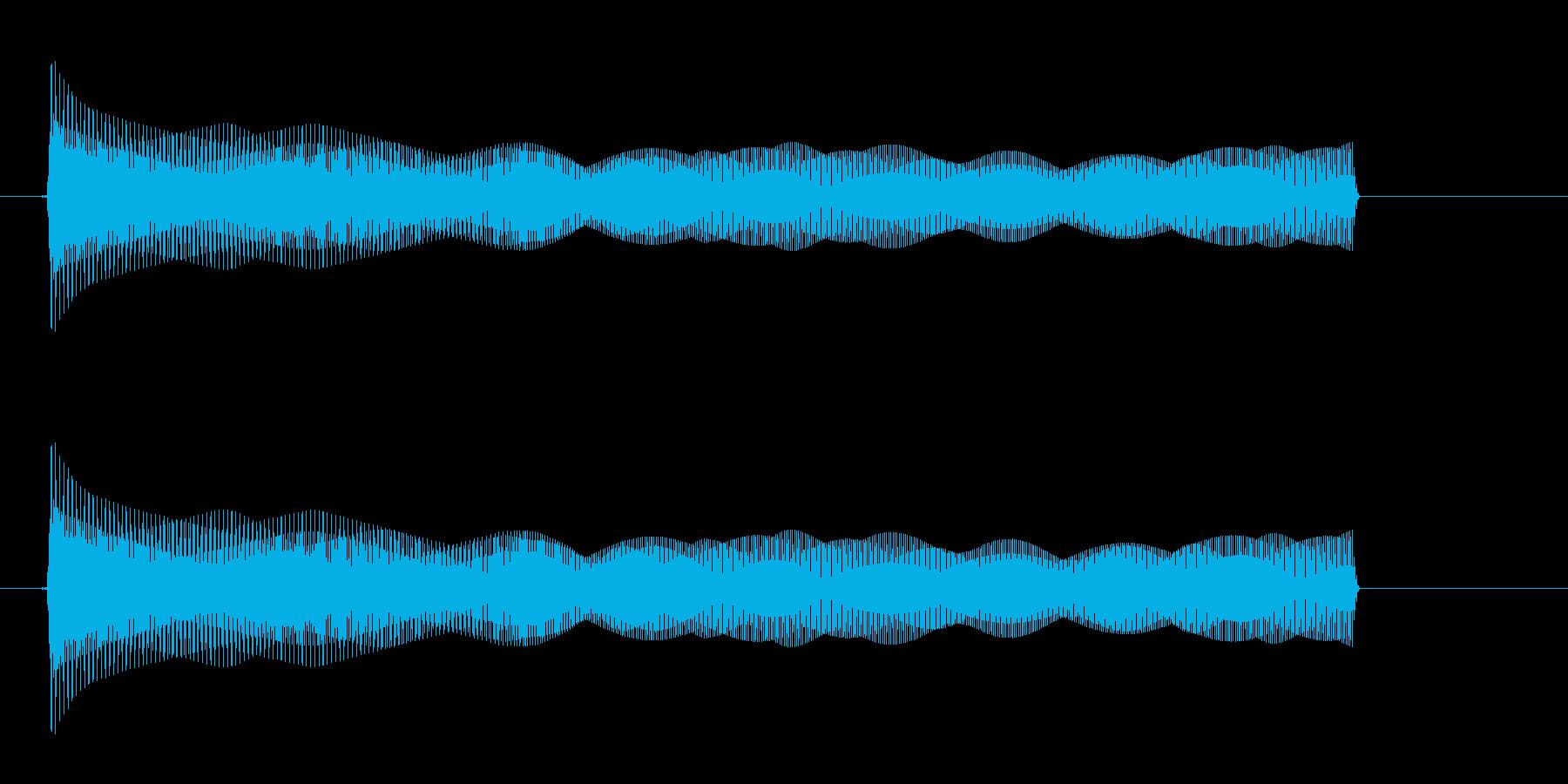 【びょーーん】シンセ2音遠くへ飛ぶ音の再生済みの波形