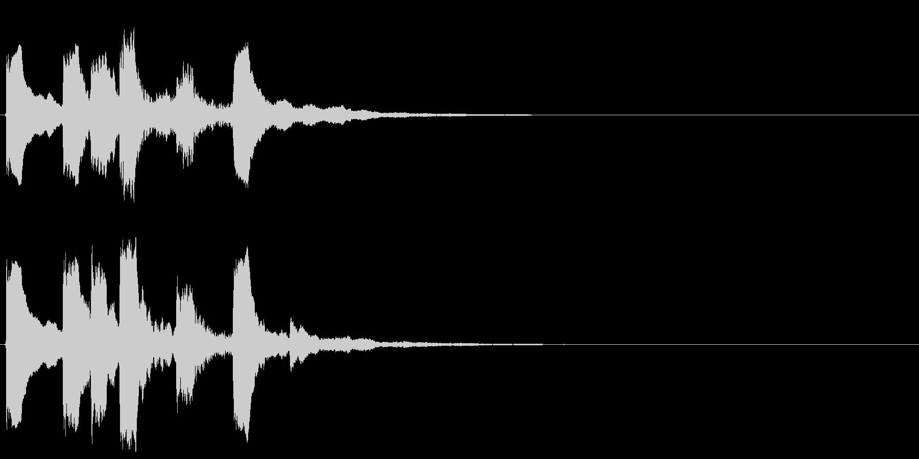 4,明るめのサウンドロゴ (3秒ロゴ)の未再生の波形