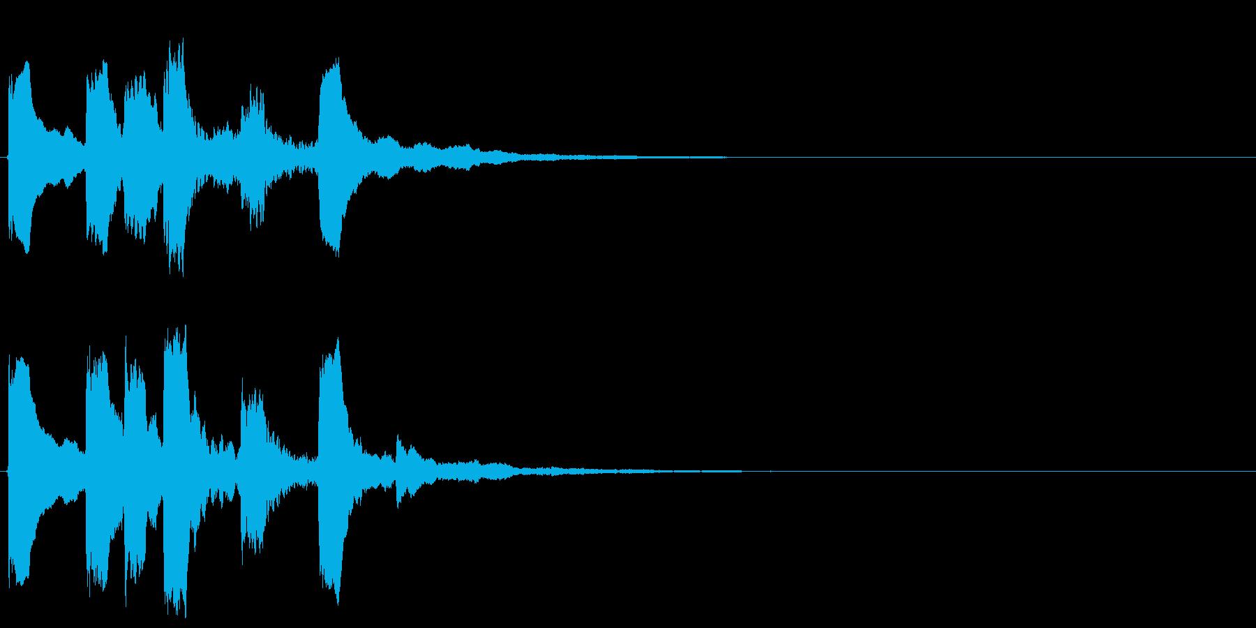 4,明るめのサウンドロゴ (3秒ロゴ)の再生済みの波形