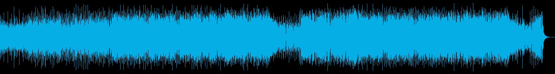 ロック調の牧歌的なカントリー曲の再生済みの波形