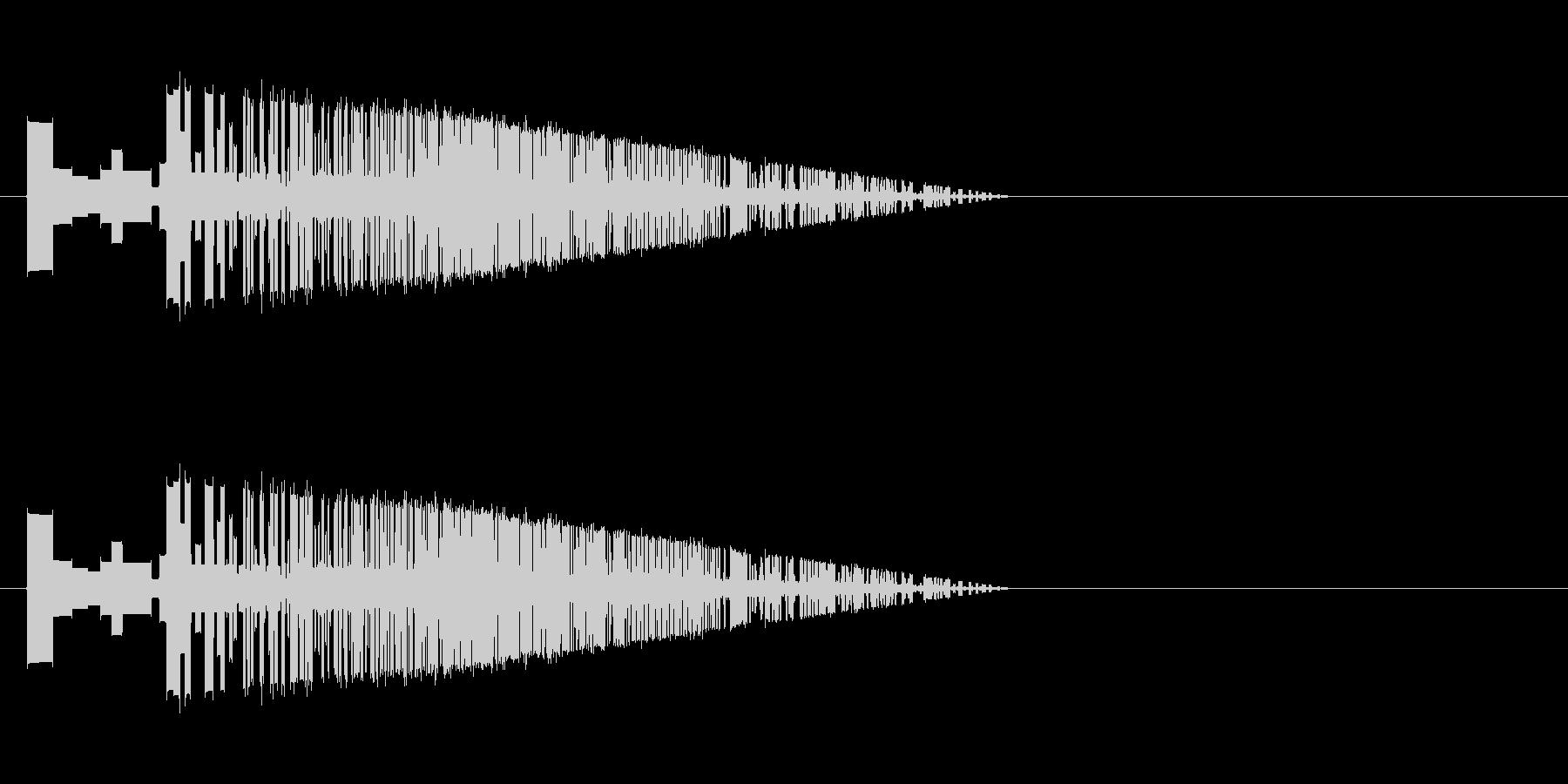 レトロゲーム風斬撃2の未再生の波形