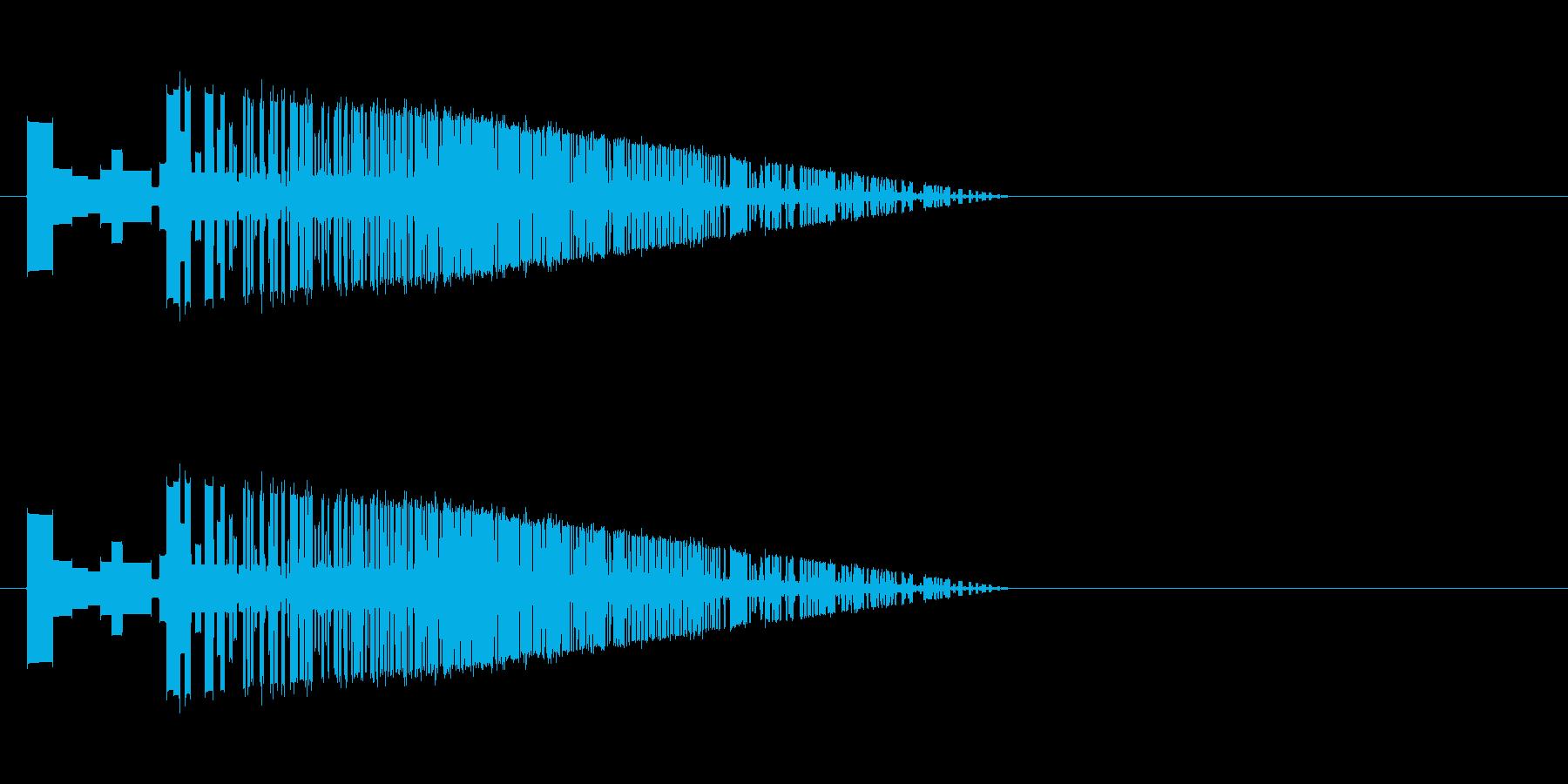 レトロゲーム風斬撃2の再生済みの波形