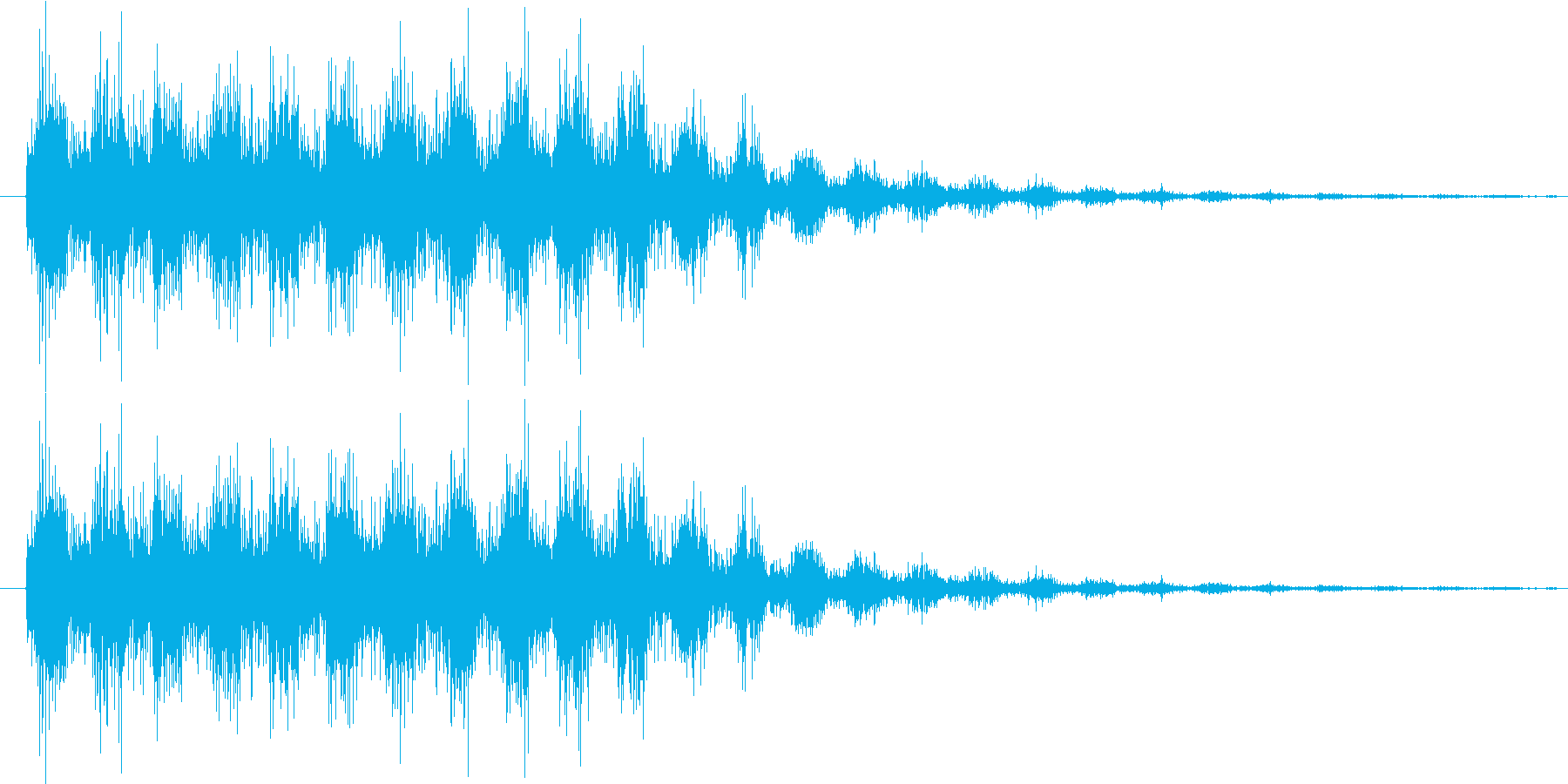 サウンドロゴ8の再生済みの波形