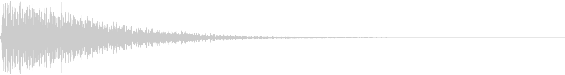 TVFX ホラーなホイッスル音の未再生の波形