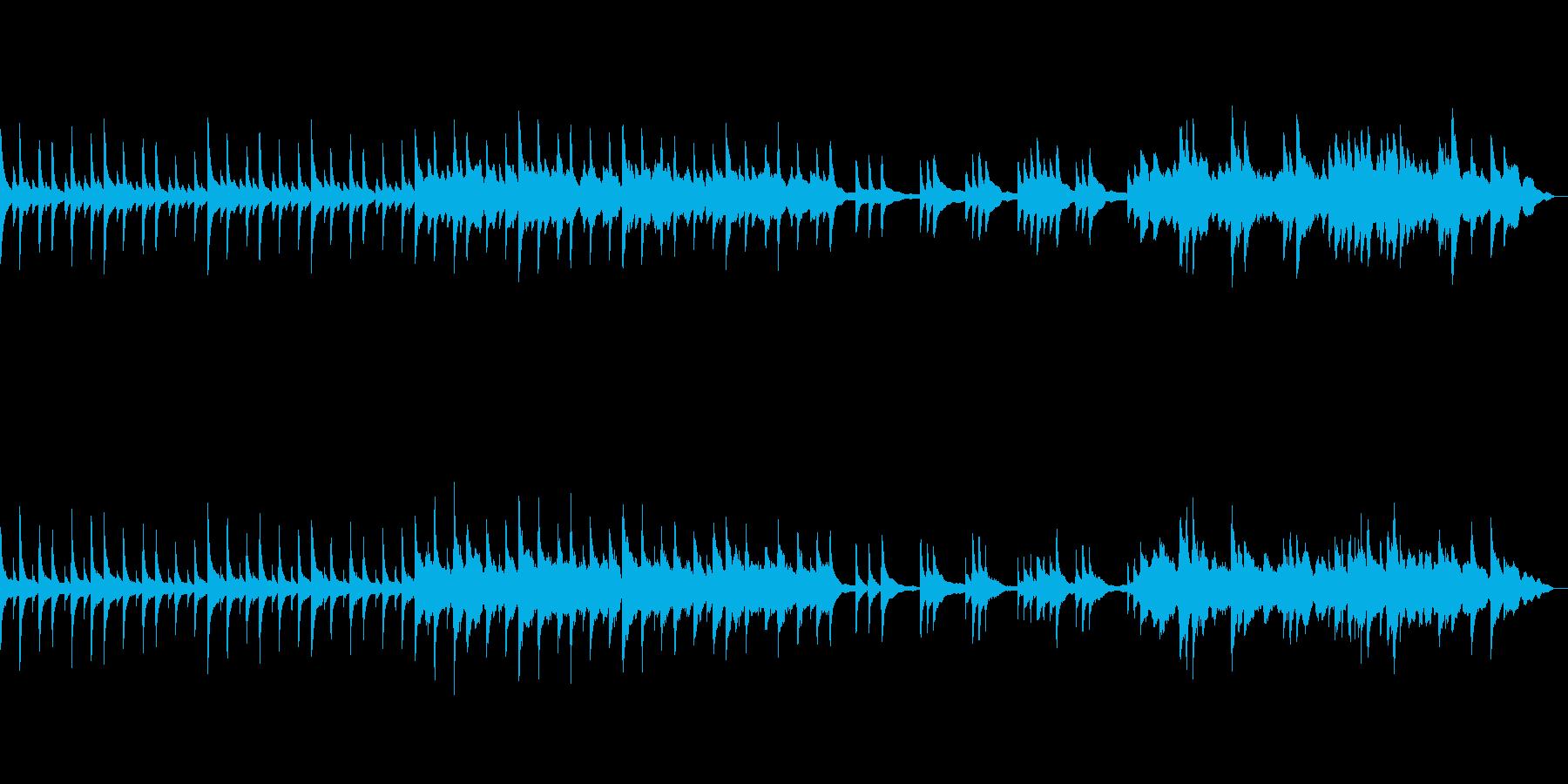 夜雪が降るイメージのピアノ曲の再生済みの波形