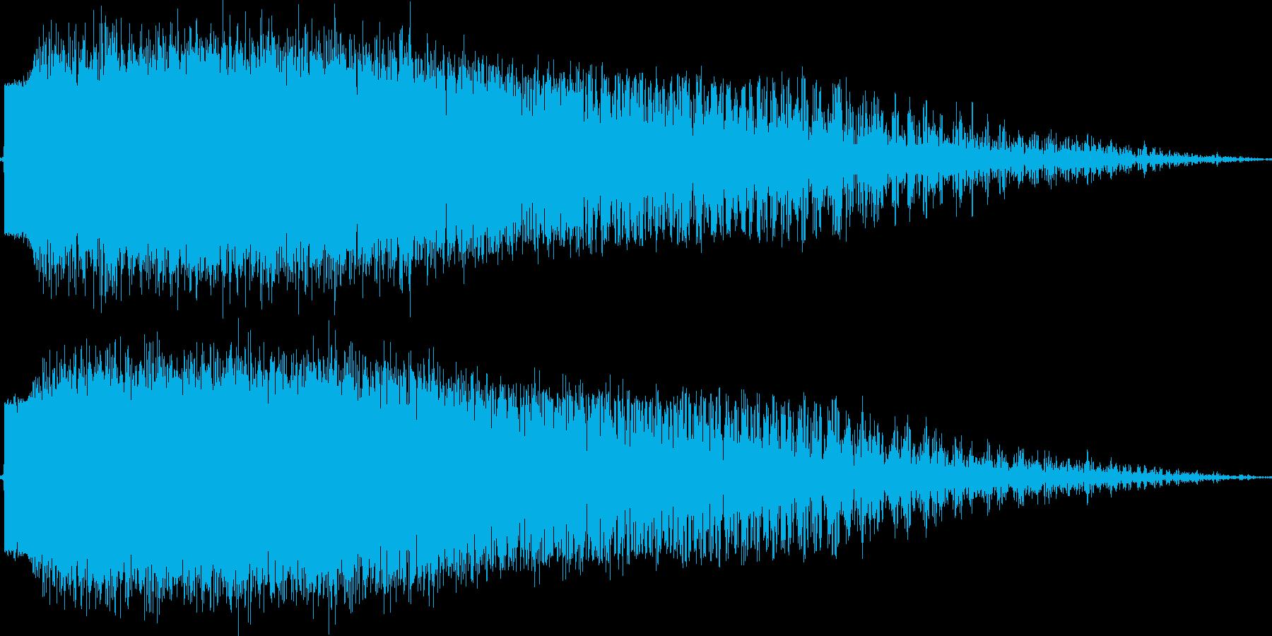 跳弾(銃弾が壁で跳ね返る)の再生済みの波形