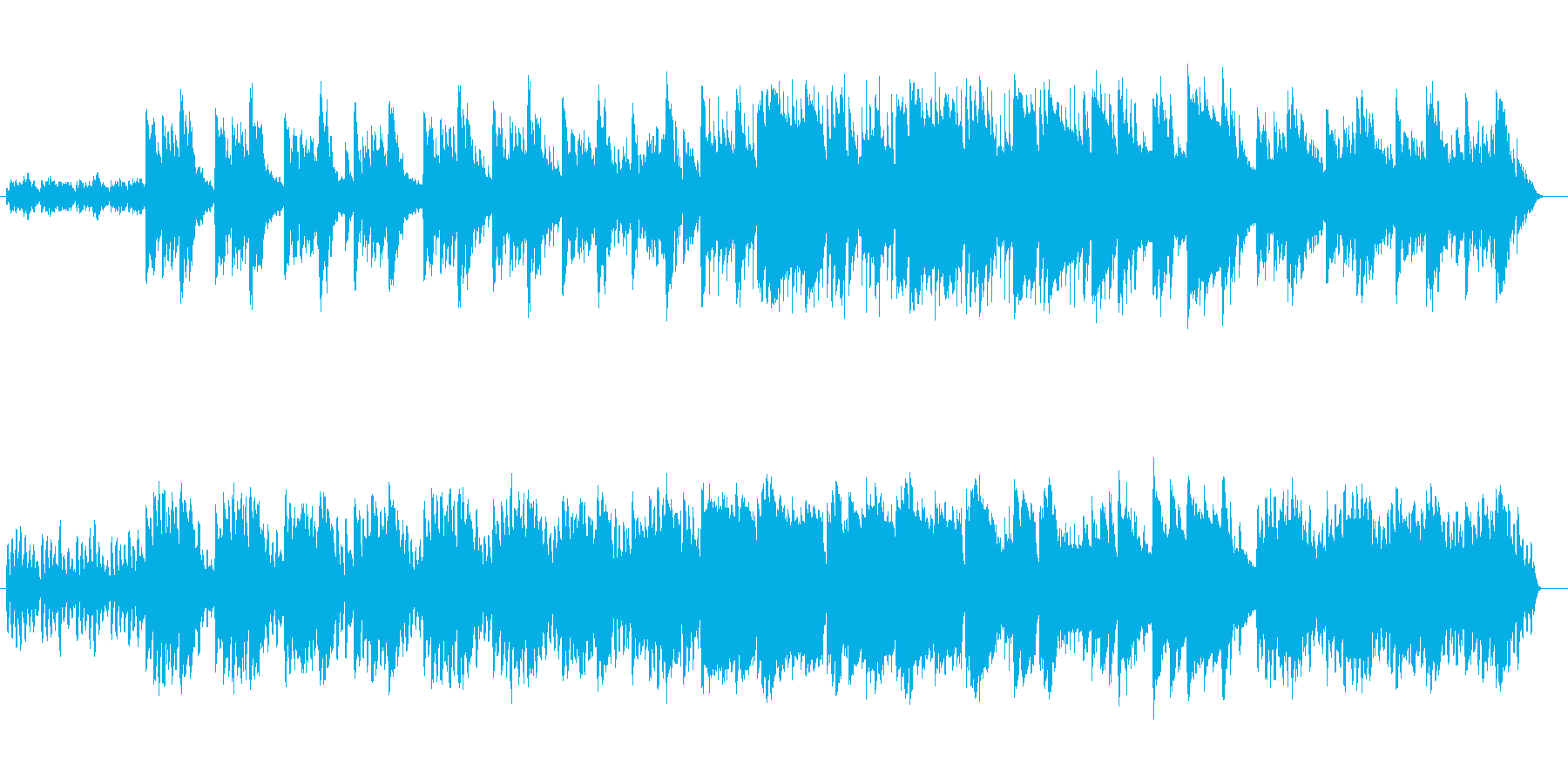 神秘的な雰囲気漂うスローテンポな曲の再生済みの波形