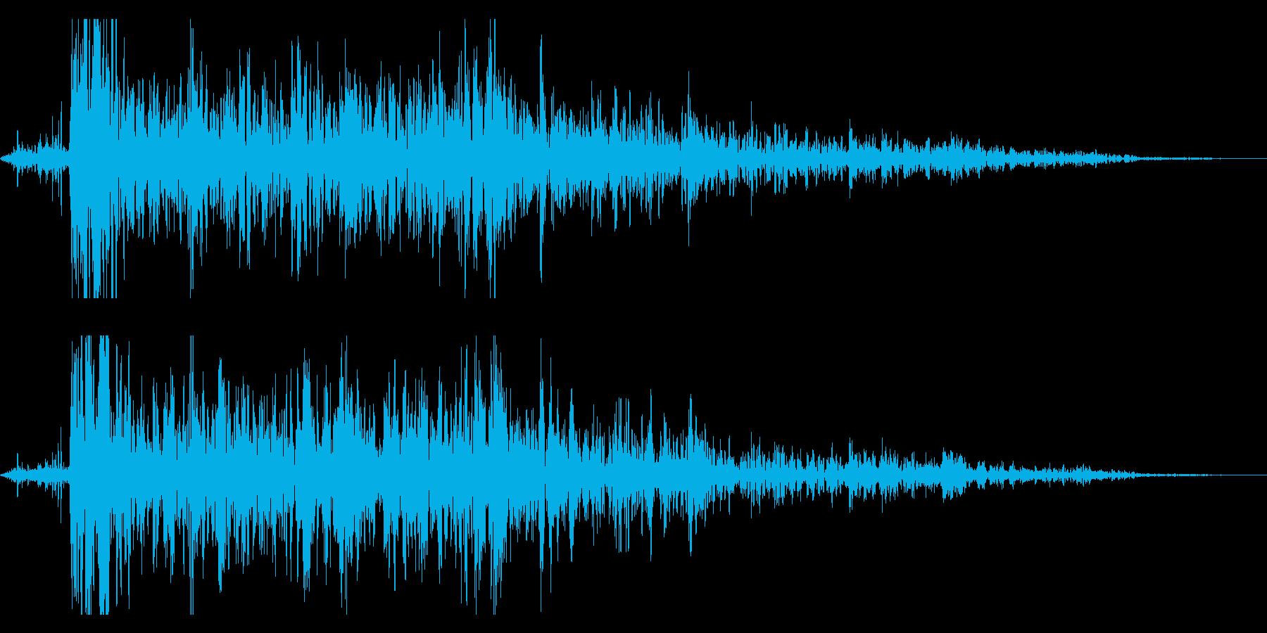 本当にリアルな連続花火の効果音!7の再生済みの波形