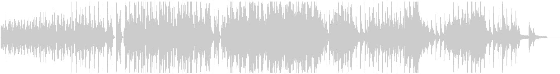穏やかなピアノのワルツの未再生の波形