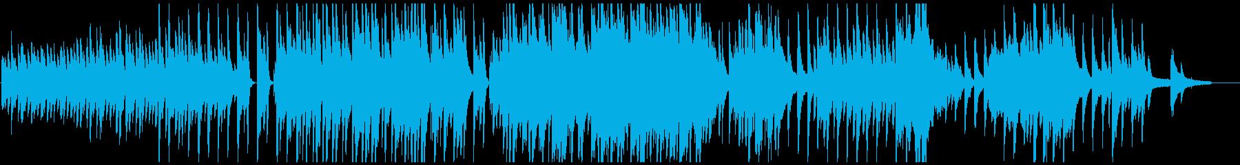 穏やかなピアノのワルツの再生済みの波形