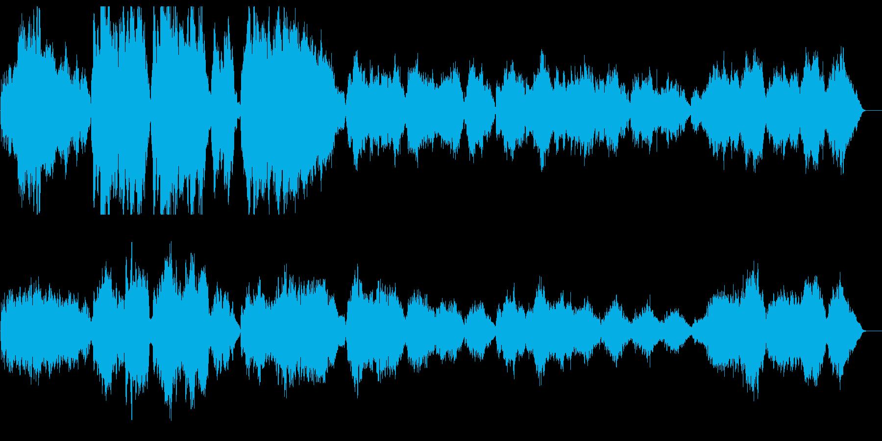 ゆったりと優しいリラクゼーションサウンドの再生済みの波形