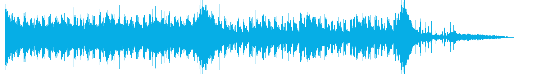 エレクトロな展開してループするBGMの再生済みの波形