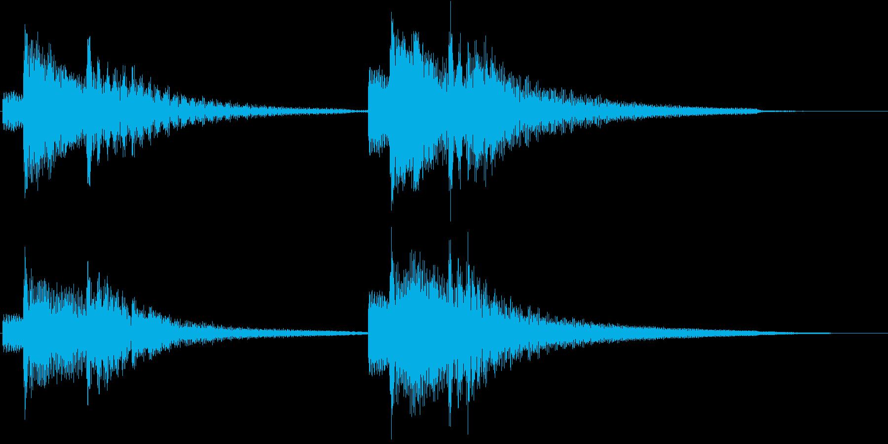 ギターによる分散和音(まったり)の再生済みの波形