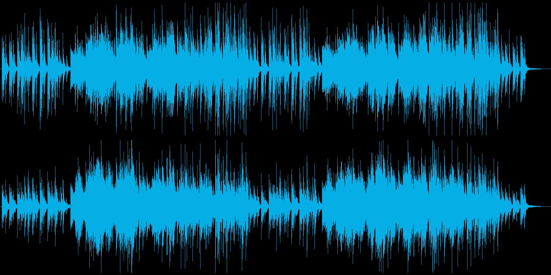 切なくも明るいピアノソロ曲の再生済みの波形