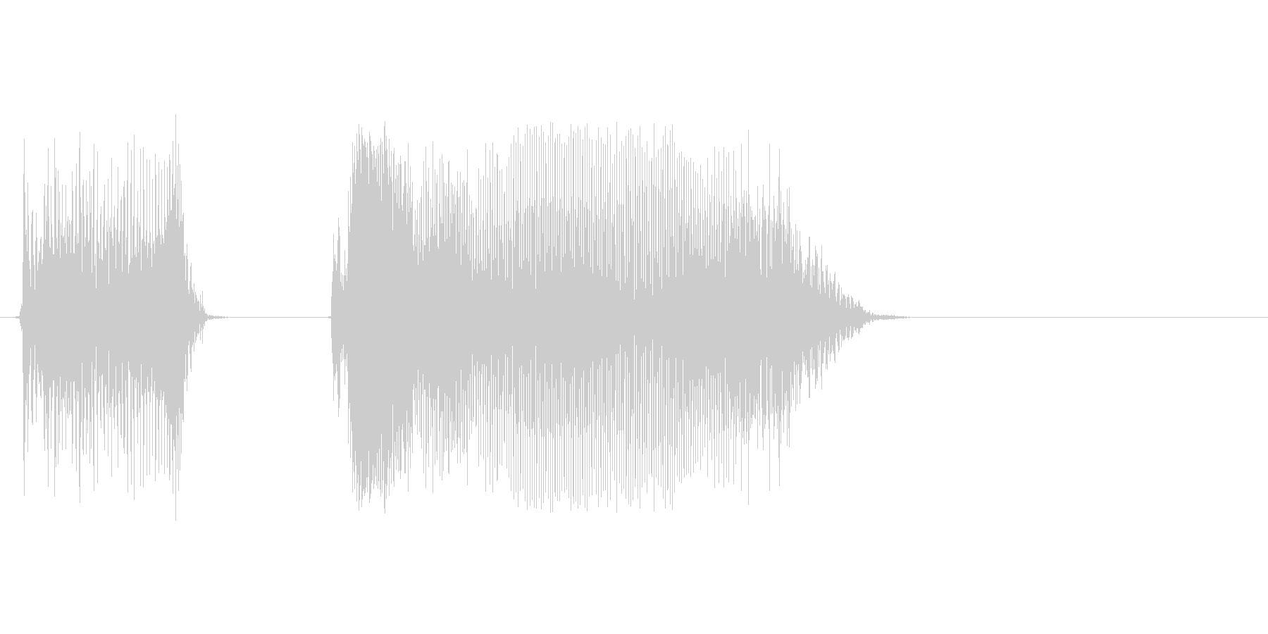 アカン!の未再生の波形