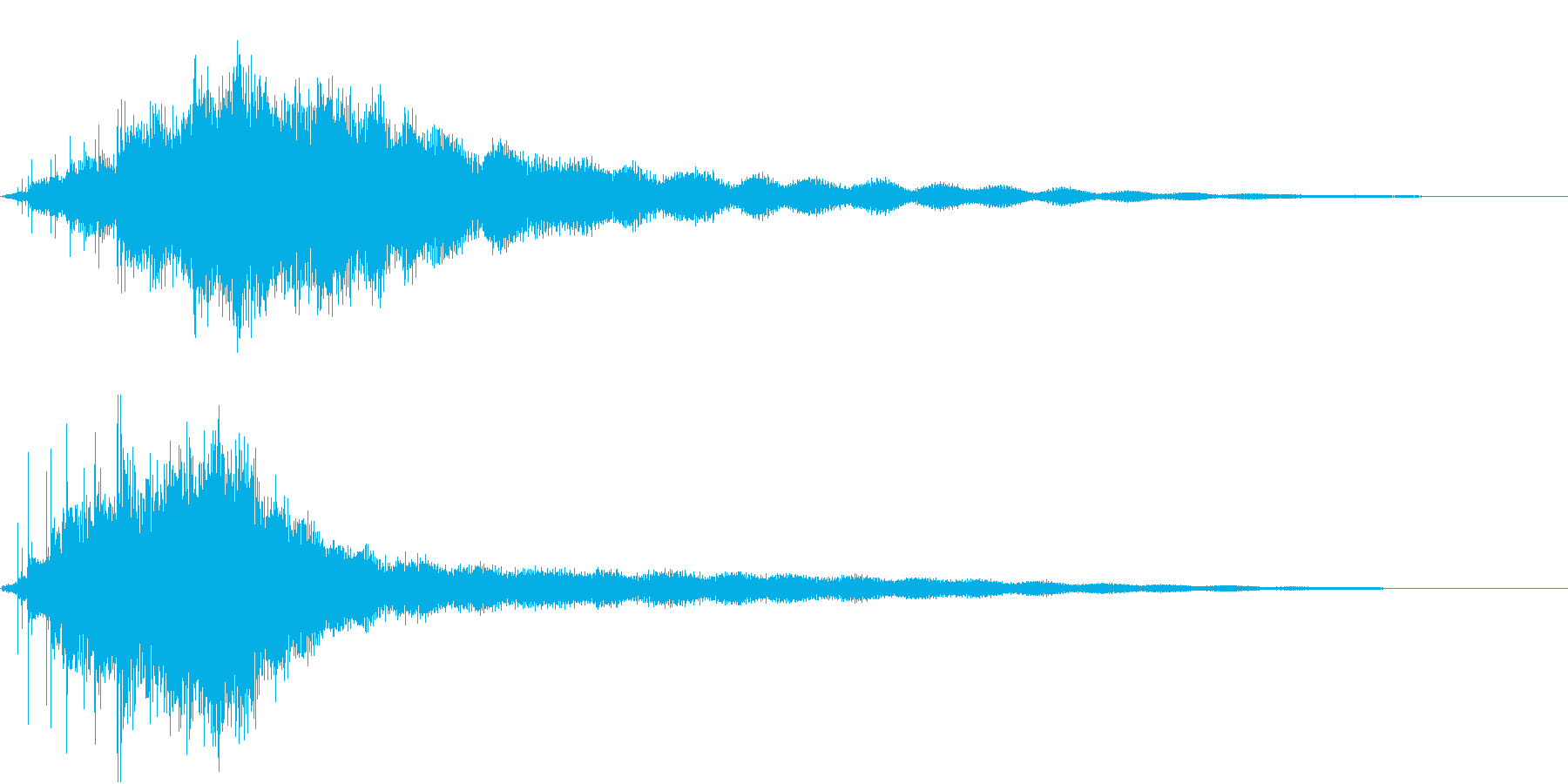 素敵な演出に綺麗なキラキラ音1の再生済みの波形