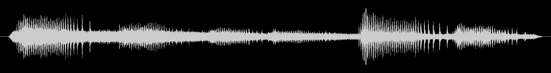 ヒグラシの鳴き声(夏、セミ、夕方)の未再生の波形