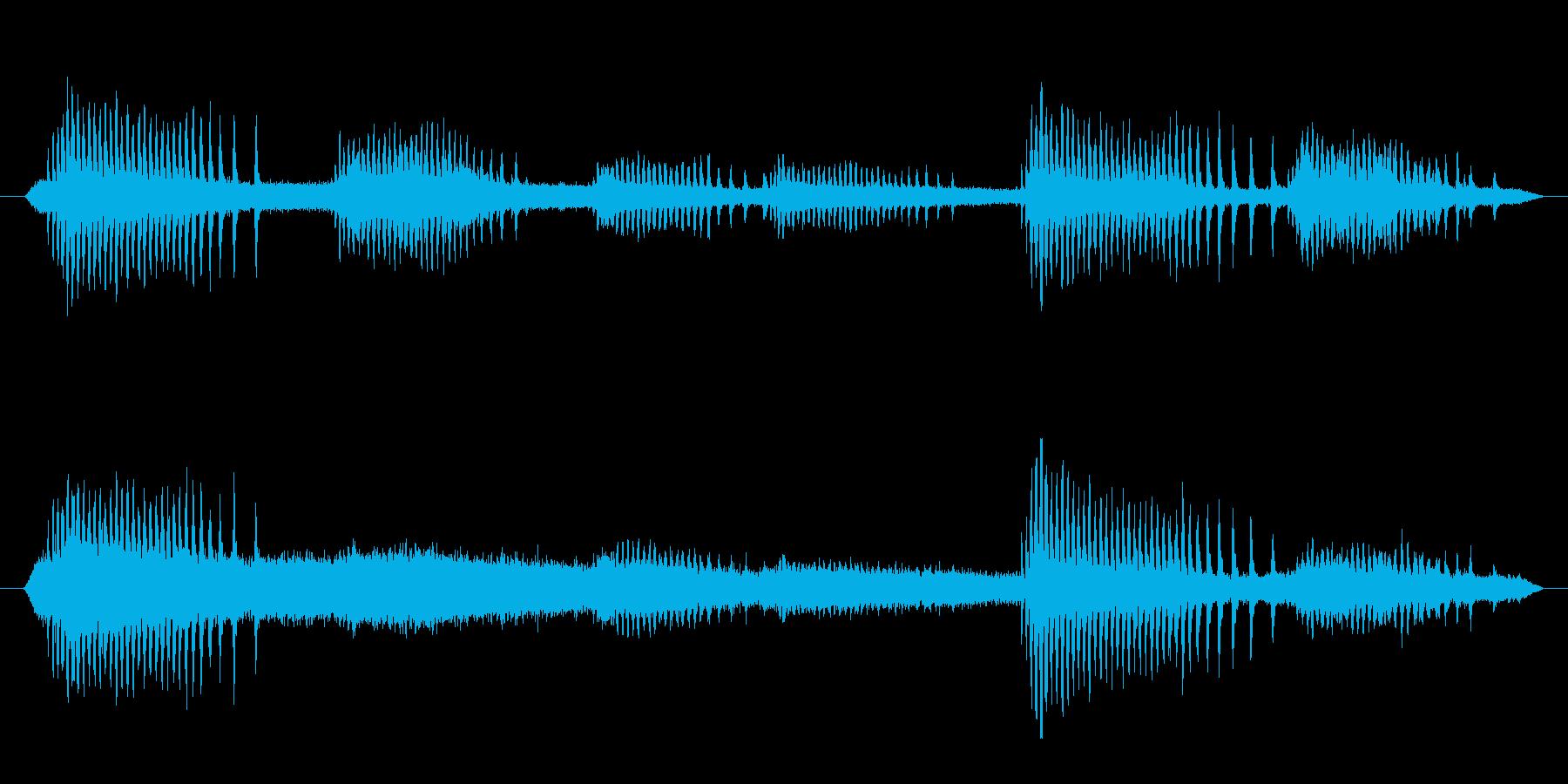 ヒグラシの鳴き声(夏、セミ、夕方)の再生済みの波形