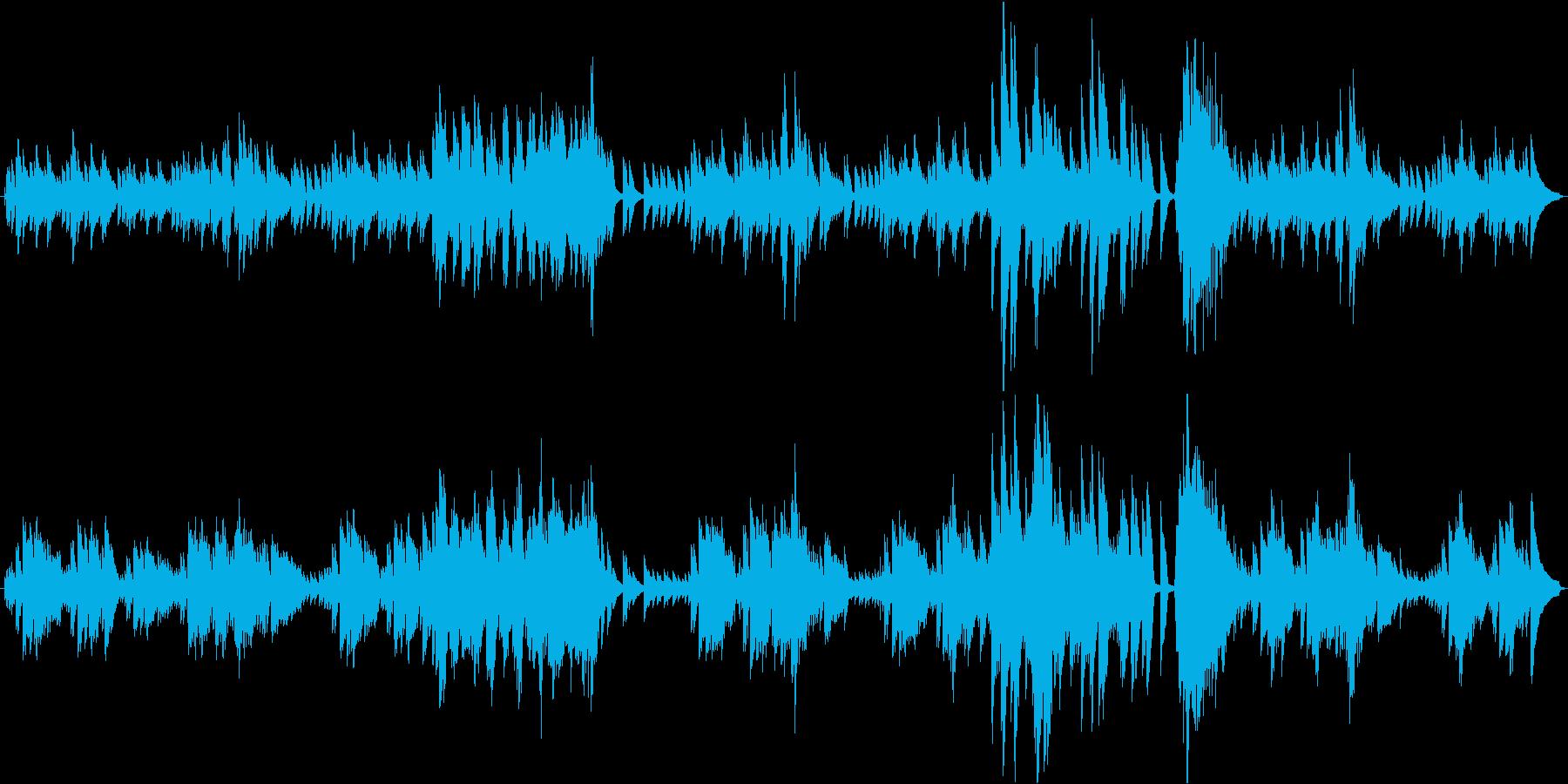 オルゴールの再生済みの波形
