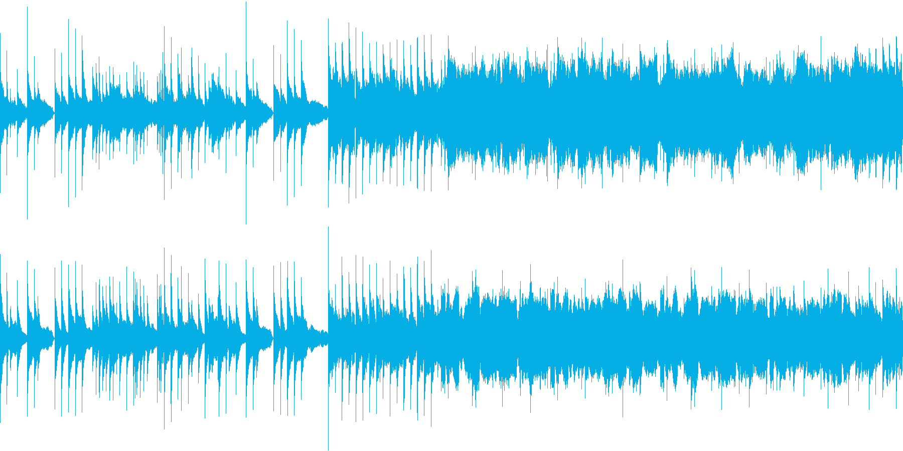 悲しいバラード ループの再生済みの波形