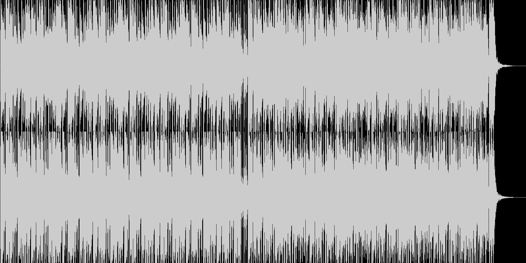 軽快なラテン系ルンバ、ボサノバ曲の未再生の波形