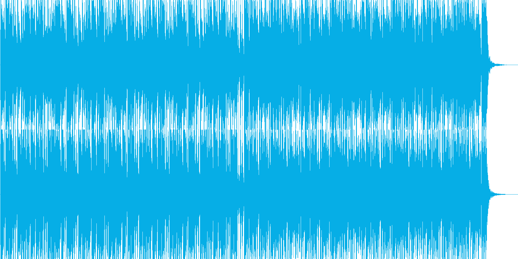 軽快なラテン系ルンバ、ボサノバ曲の再生済みの波形