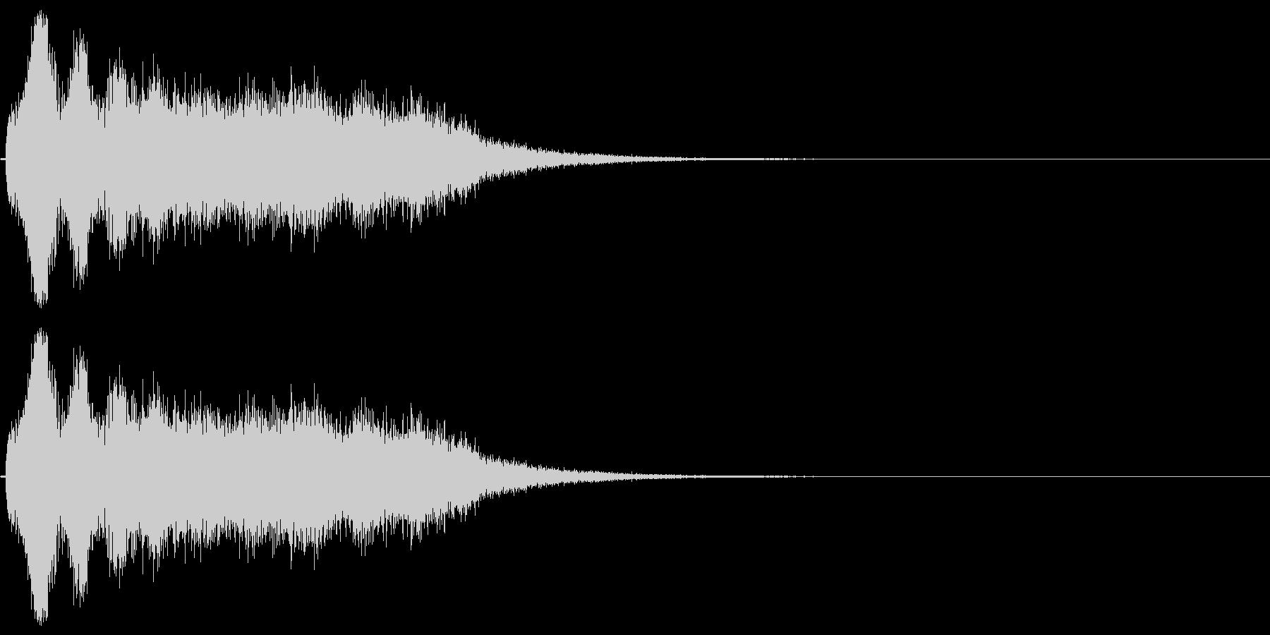 スーパー、テロップ向け(キラキラ成分付)の未再生の波形