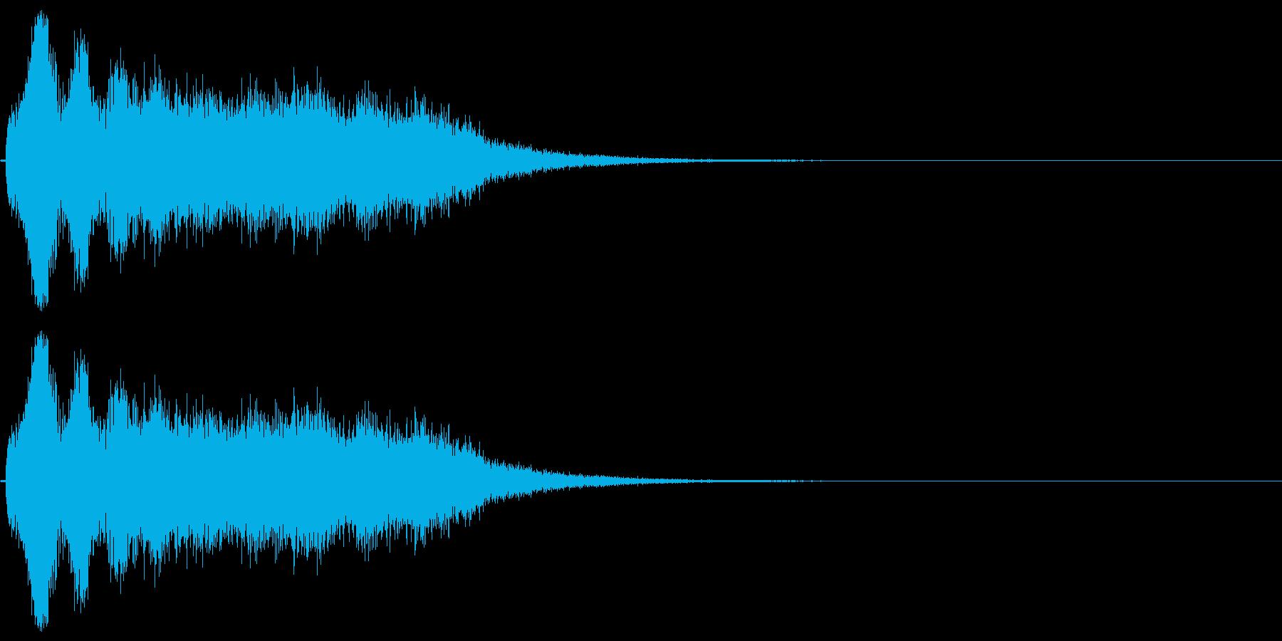 スーパー、テロップ向け(キラキラ成分付)の再生済みの波形
